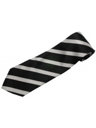 STRIPES TIE BLACK & WHITE NOVELTY NECKTIE #41