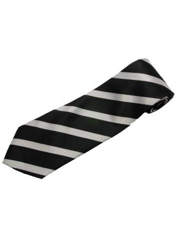 STRIPES TIE BLACK & WHITE NOVELTY NECKTIE #41