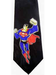 SUPERMAN (BLACK) TIE NECKTIE