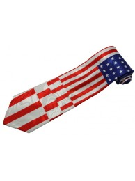USA FLAG AND EAGLE TIE NOVELTY NECKTIE #08