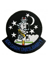 USN 100 DARK ONES, BABY TOMCAT EMBROIDERED PATCH