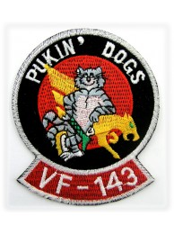 USN PUKIN DOGS, VF-143 ARMY TOMCAT EMBROIDERED PATCH