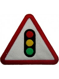 TRAFFIC LIGHTS BIKER PUNK & ROCK PATCH #01