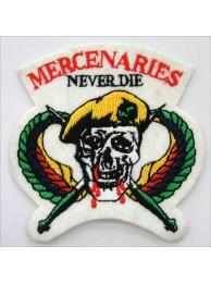 USMC US  NAVY MERCENARIES NEVER DIE SKULL PATCH