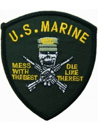 USMC US MARINE CORP MESS WITH THE BEST PATCH