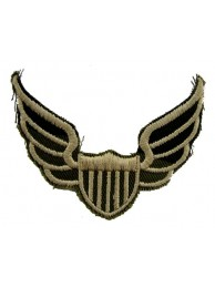 Biker Wings Embroidered Patch #01